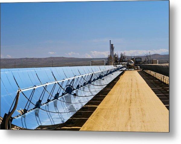 Solar Power Plant, California, Usa Metal Print by David Nunuk