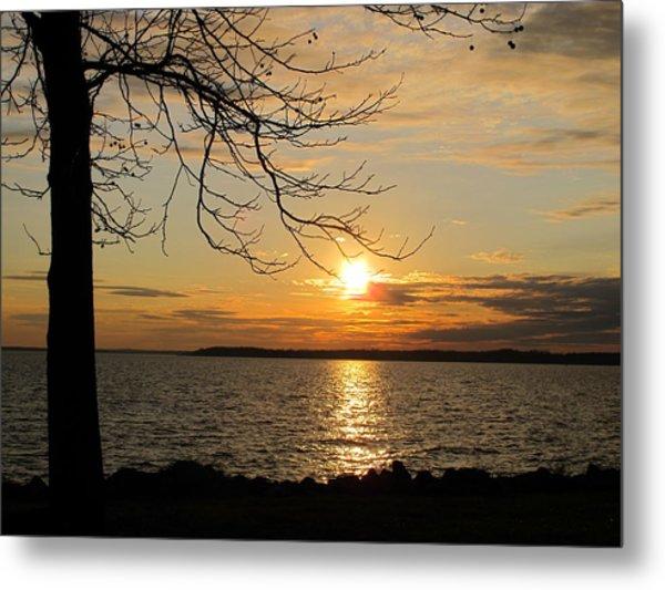 Sunset Chesapeake Bay Metal Print by Valia Bradshaw