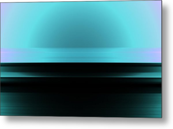 Metal Print featuring the digital art The Horizon by Mihaela Stancu