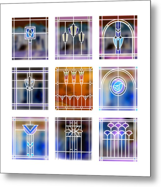 9 Bungalow Windows 2 Metal Print