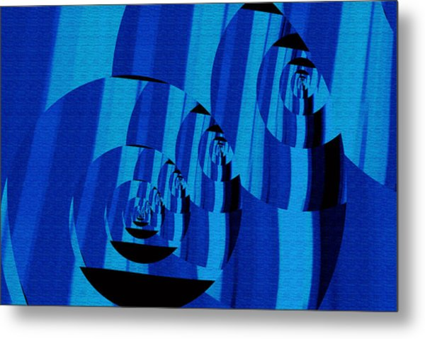 Metal Print featuring the digital art Twirling by Mihaela Stancu