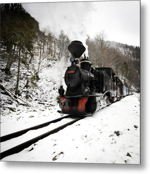 A Century Train Metal Print by Ovidiu Bastea