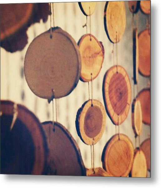 A Creation. #art #lines #curves #wood Metal Print