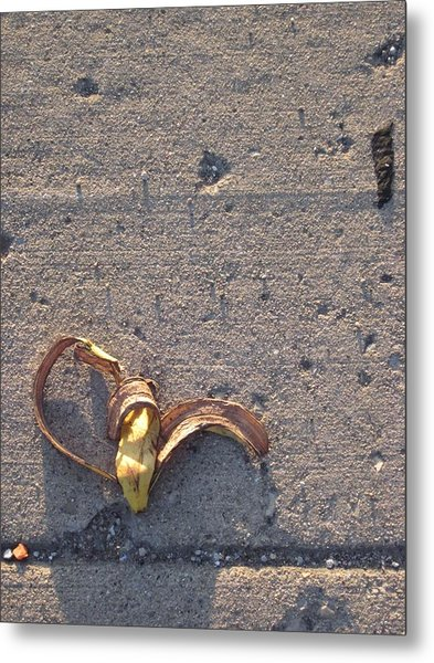 A Discarded Banana Is A Joy Forever Metal Print by Guy Ricketts