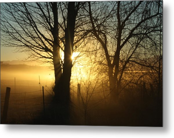 A Dusty Sunset Metal Print