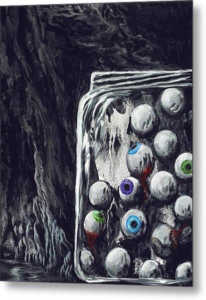 A Jar Of Eyeballs Metal Print