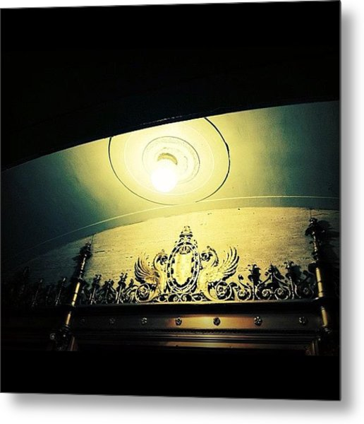 A Light In The Village Metal Print