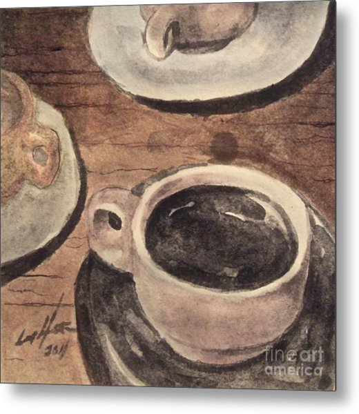 A Morning Cup Metal Print