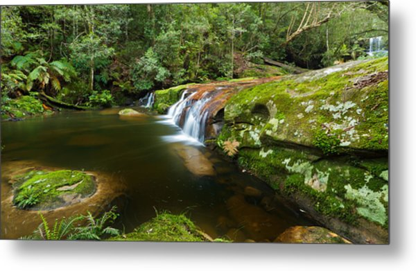 A Parallel View - Somesby Falls Metal Print