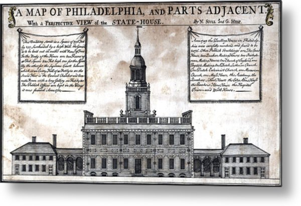 A Perspective View Of The State-house Metal Print by Everett