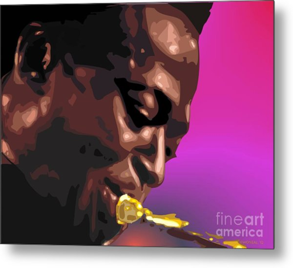 A Portrait Of Miles Metal Print