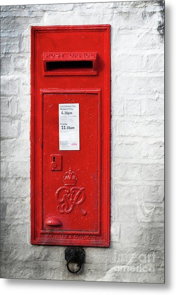 A Quaint Essential English Post Box Metal Print