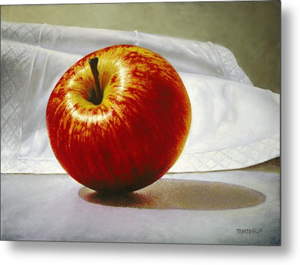 A Red Apple Metal Print