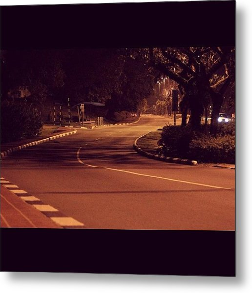 A Road To No Where, Lonely And Empty Metal Print