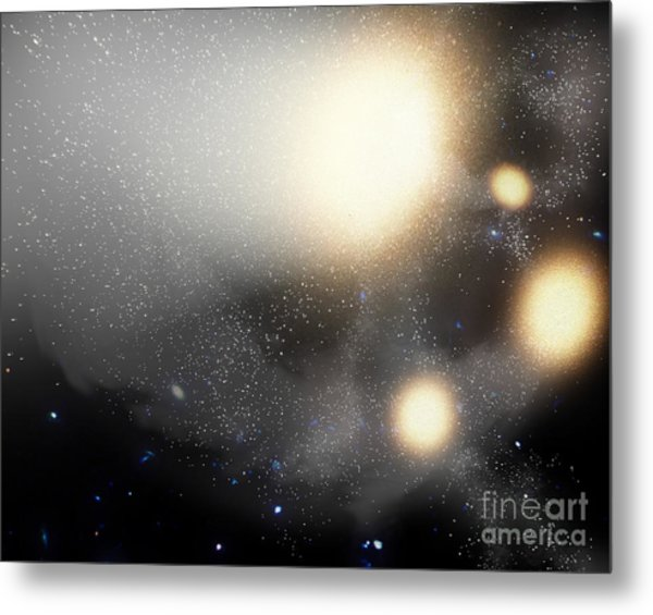 A Smash-up Of Galaxies Metal Print