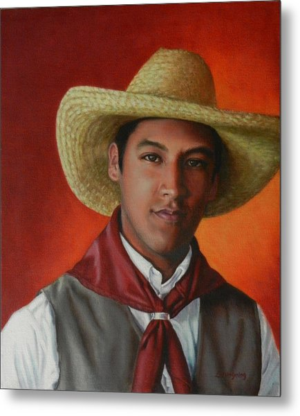 A Smile From The Andes, Peru Impression Metal Print