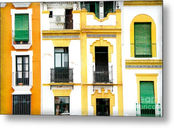 A Spanish Facade Metal Print by Perry Van Munster