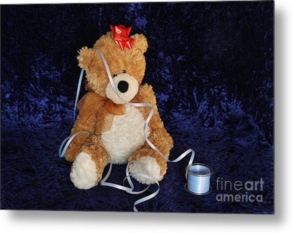 30ca61f2e68 A Tangled Bear Metal Print by Angel McCoy