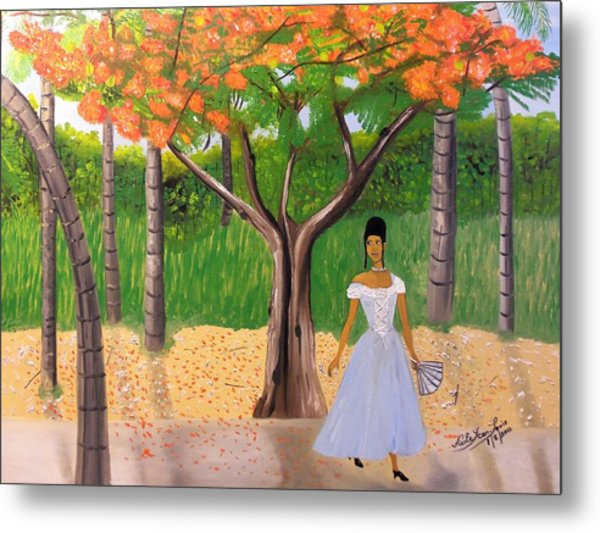 A Une Dame Creole Metal Print