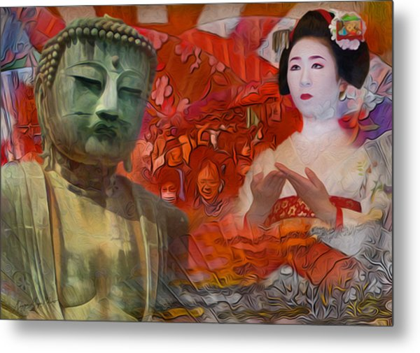 A Vision Of The History Of Japan  Metal Print