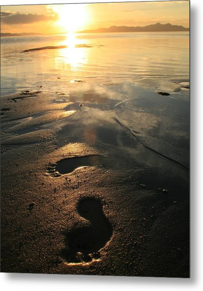 A Walk In The Sand Metal Print by Gene Praag