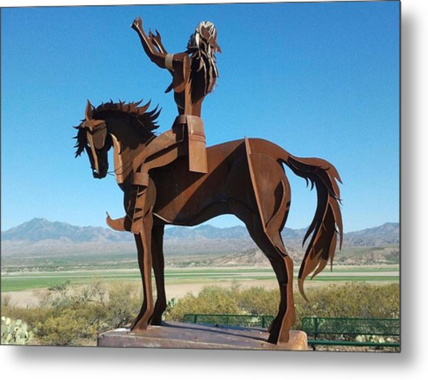 A Warrior Metal Print by Anthony Anderson