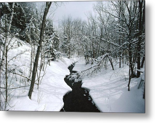A Winter View Of Rush Brook Metal Print