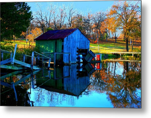 Abandoned Boat House Metal Print by Carrie OBrien Sibley