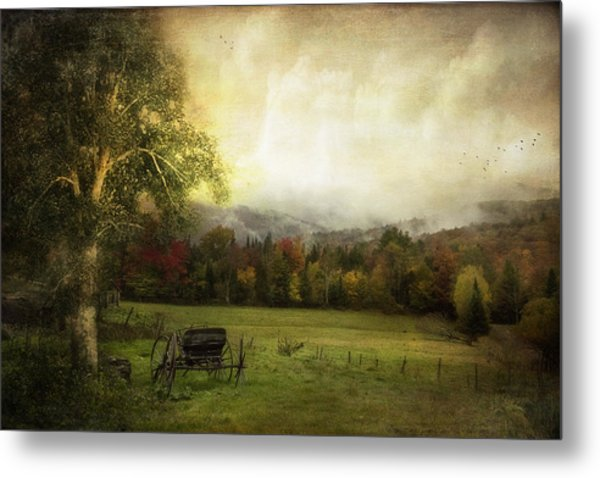 Abandoned Wagon Metal Print