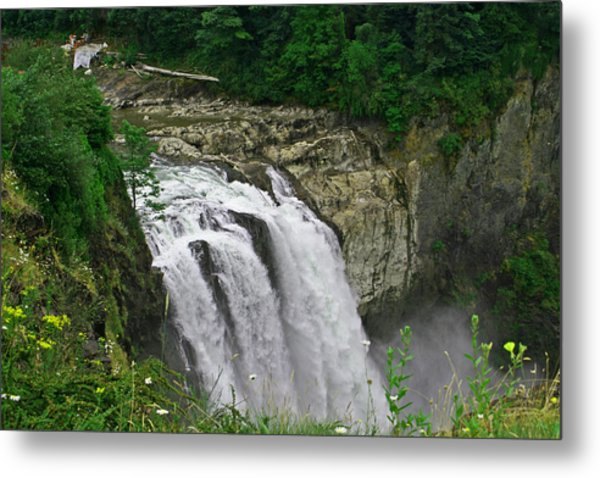 Above The Falls Metal Print