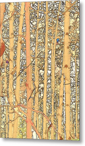 Abstract Aspens Metal Print
