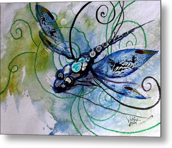 Abstract Dragonfly 10 Metal Print