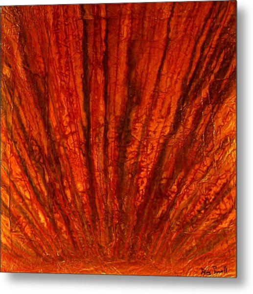 Abstract Flash 2.2 Metal Print