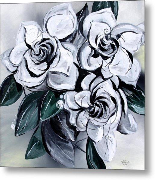 Abstract Gardenias Metal Print