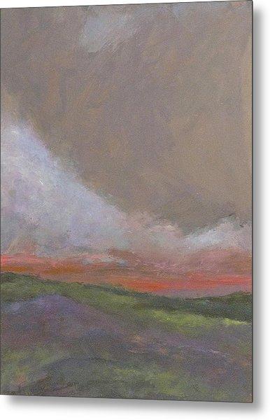 Abstract Landscape - Scarlet Light Metal Print