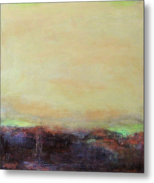 Abstract Landscape - Rose Hills Metal Print