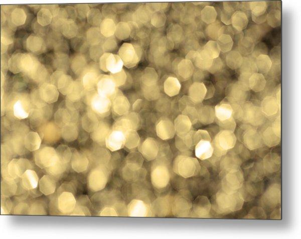 Abstract Lights Golden Metal Print