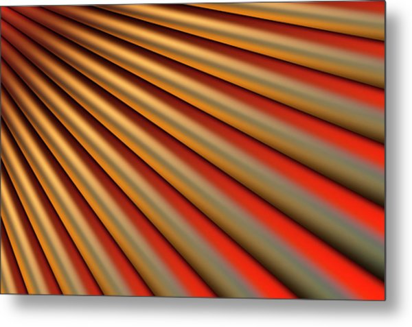 Abstract Line Pattern Metal Print by Ralf Hiemisch