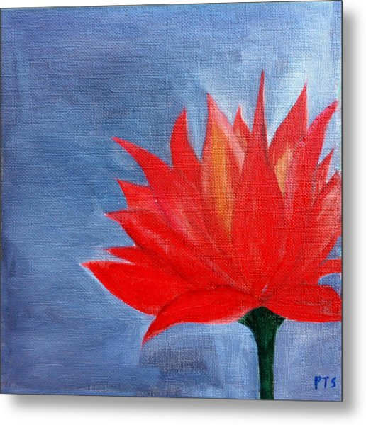 Abstract Lotus Metal Print by Prachi  Shah