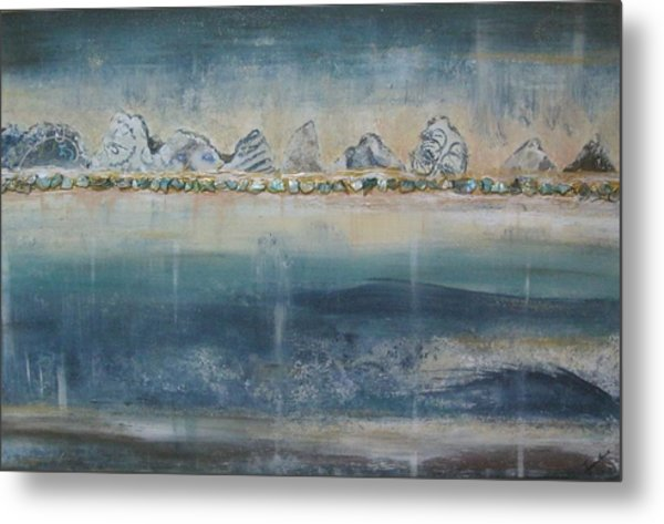 Abstract Scottish Landscape Metal Print