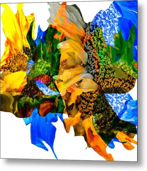 Abstract Sunflowers No 428 Metal Print