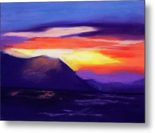 Abstract Sunset Metal Print by Diana Tripp