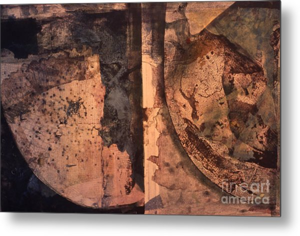 Abstract Trax I Metal Print by Charles B Mitchell