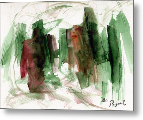 Abstract Watercolor 51 Metal Print