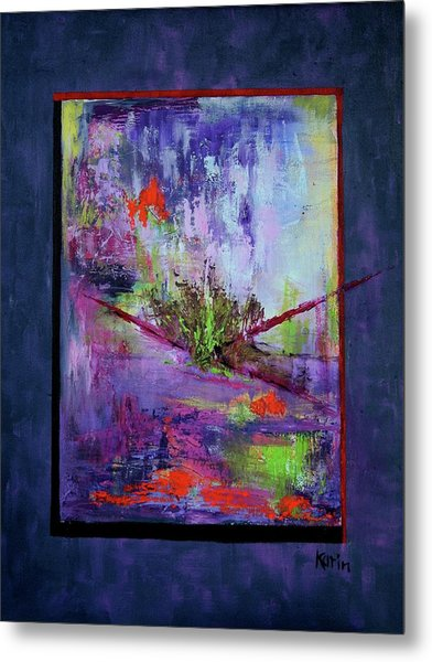 Abstract With Center Metal Print