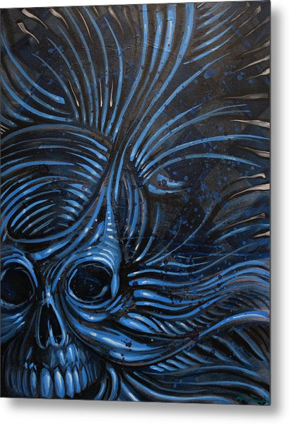 Abstracted Skull Metal Print by Joshua Dixon