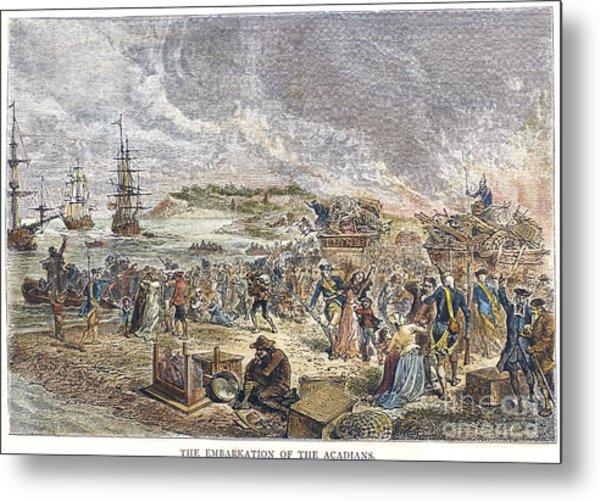 Acadian Expulsion, 1755 Metal Print