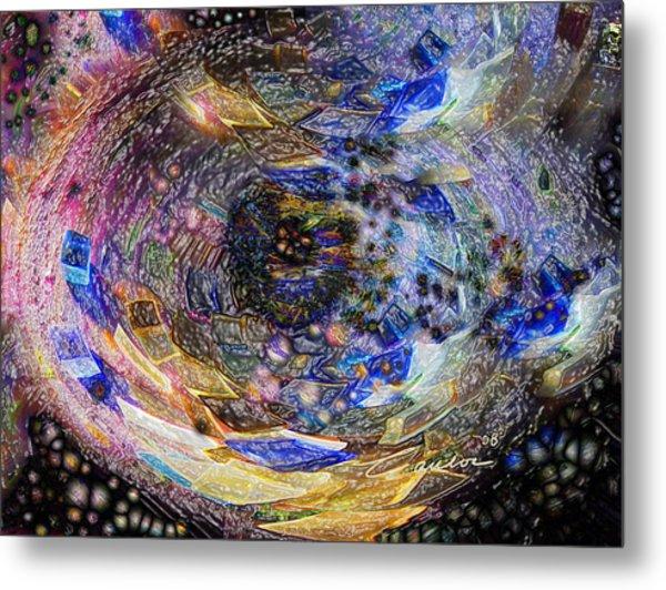 Accreation Disk Metal Print by Charles Carlos Odom