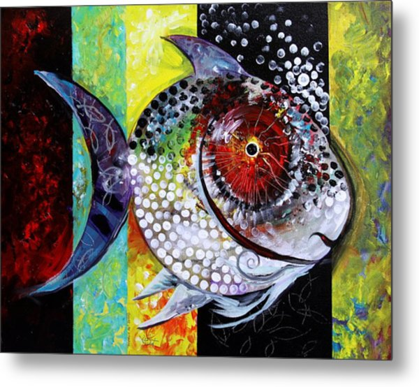 Acidfish 70 Metal Print