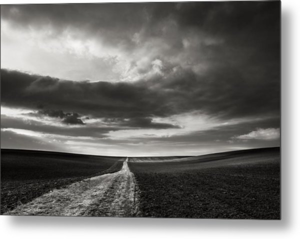 Across The Field  Metal Print by Jaromir Hron